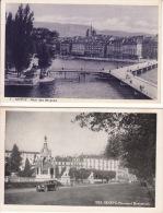 Vieux Genève - 2 Vues Anciennes - GE Genève