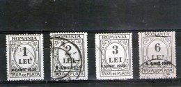 1930 -   FRAIS DES PAIEMENT Avec Surcharge 8 IUNIE Mi 64/67 Et Yv 82/85 - Portomarken