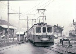Chemin De Fer, MOB, Train A Montbovon, Photo 1964 BVA MOB 104.8 - Eisenbahnen