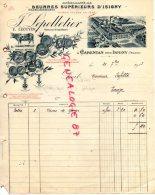 50 - CARENTAN PRES ISIGNY - TRES BELLE FACTURE J. LEPELLETIER- BEURRE - LAITERIE- LAIT-1913 - France