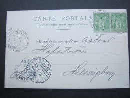 ALGERIEN , 1901, El-GUERAH, Carte Postale A Sweden - France (former Colonies & Protectorates)