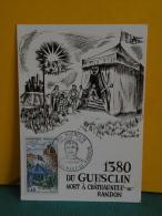Carte Maxi / FDC, 1380 Du Guesclin Mort à !! - 48 Châteauneuf De Randon - 16.11.1968 - 1er Jour - FDC
