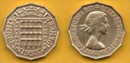 Gran Bretagna 3 Pence 1953. # 803. - 1902-1971 : Post-Victorian Coins