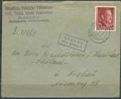 B.13.NOV.141. POSTSTUK  VERSTUURD  IN  GENERALGOUVERNEMENT.  1942. - Ocupación 1938 – 45