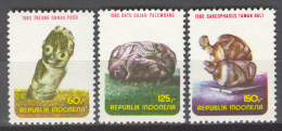 BL2-133 INDONESIA 1980 ZBL 995-997 + 1001+1002 ARCHEOLOGY, MEGALITHIC CULTURE. MNH, POSTFRIS, NEUF**. - Archeologie