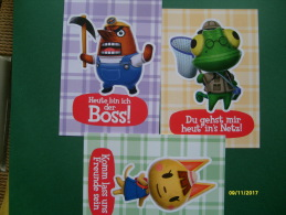 Videogame 2013  NINTENDO 3 DS Animal Crossing N.3 Karte Differenti - Cartoline