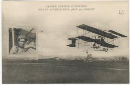 Bracquemont Henri Pequet Sur Biplan Sanbhez Besa FF Paris Gde Semaine Aviation Fleury - Andere Gemeenten