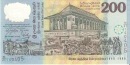 BILLETE DE SRY LANKA DE 200 RUPEES DEL AÑO 1998 DE POLYMERO  (BANKNOTE) SIN CIRCULAR-UNCIRCULATED - Sri Lanka