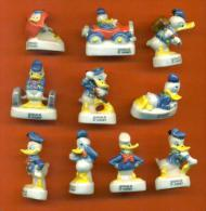 "Serie Complete De 10 Feves  ""  Ca C'est Donald  ""  2002 - Disney"