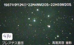 Télécarte Japon ESPACE * Phonecard JAPAN * SPACE  (470)  PLANETE * Météorite * COSMOS * - Astronomie