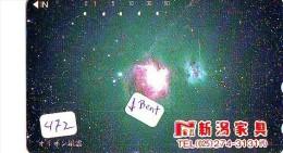 Télécarte Japon ESPACE * Phonecard JAPAN * SPACE  (472)  PLANETE * Météorite * COSMOS * - Astronomie
