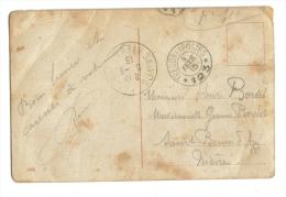 Cachet Tresor Et Postes Fevrier 1915 Secteur 123 - Poststempel (Briefe)