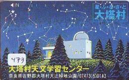 Télécarte Japon ESPACE * Phonecard JAPAN * SPACE  (473)  PLANETE * Météorite * COSMOS * ZODIAQUE * ZODIAC - Astronomie