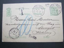 1889, Taxkarte , Eckknick - 1882 Allegorie