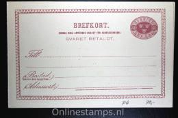Sweden: Postcard Mi P 4 Svaret Betaldt Not Used