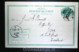 Sweden: Mi P 14,15 Ore,Stockholm-Leipzig  Germany 1891,Signed/geprüft GBSV,light Fold Right Bottom