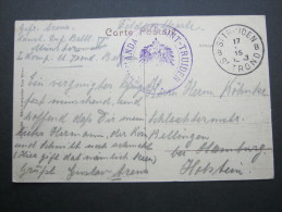 1915, St.TRUIDEN - St.Trond,  Kommandantur, Carte Militaire - WW I