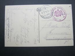 1916, LOUVAIN,  Feldfliegerabteilung 41, Carte Militaire - WW I