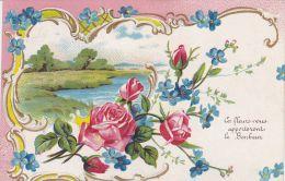 Cp , FLEURS , Ces Fleurs Vous Apporteront Le Bonheur - Non Classificati