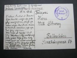 1916,  Bahnhof Schaerbeck, Carte Militaire - WW I
