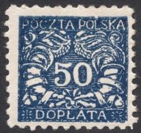Poland, 50 H. 1919, Sc # J28, Mi # 19, MH - Postage Due