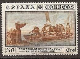 SPAIN Edifil # 540 * MH Avec Ch. Colon Columbus America Discover Ships / Barcos - Nuevos
