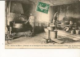 39 SALINS-LES-BAINS .Intérieur De La Fromagerie De Blégny , édit: Figuet,  Années 10, état Extra - Otros Municipios