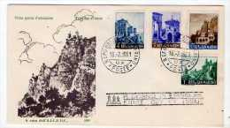 SAN MARINO - FDC - FIRST DAY COVER - PAESAGGI 1961 (LANDSCAPES) - FDC