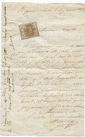 BAGNERES DE LUCHON Timbre De Dimension N°7 Sur Courrier Du 16/01/1869 - Fiscaux