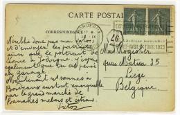 """FLIERS  -  """" BORDEAUX  /  1923 """" + """" Exposition Internationale / Des Arts Décoratifs / .... / Paris ..."""" - Réf. BOR210 - Annullamenti Meccaniche (Varie)"""