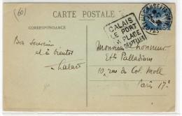 """DAGUINS  -  """" CALAIS GAMBETTA / PAS DE CALAIS / 19-7-28 """" + """" CALAIS / LE PORT / LA PLAGE / SES DENTELLES """" - Mechanical Postmarks (Other)"""