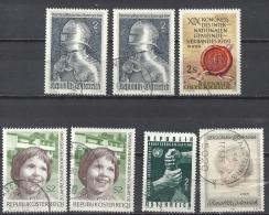 Österreich 1969 Mi 1302 (2x), 1303, 1304 (2x), 1311 - 1945-.... 2de Republiek