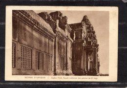 """43708    Cambogia,    Ruines D""""Angkor  -  Angkor-Vath  -  Facade  Exterieure  Des  Galeries  Au  3e Etage,  NV - Cambogia"""
