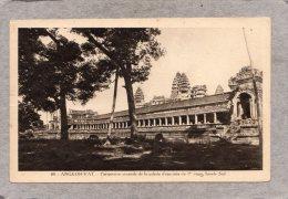 "43713    Cambogia,   Angkor-Vat  -  Perspective  Generale  De La  Galerie  D""enceinte Du  1er  Etage - Facade  Sud,  NV - Cambogia"