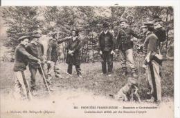 FRONTIERE FRANCO SUISSE 505 DOUANIERS ET CONTREBANDIERS . CONTREBANDIERS ARRETES PAR DES DOUANIERS FRANCAIS  1909 - Douane