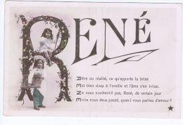 Prénom René , Avec Deux Enfants Dont Un Petit Patissier - Nomi