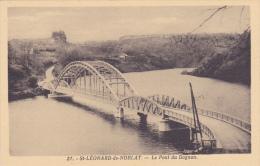 CPA 87 @ SAINT LEONARD DE NOBLAT @ Le Pont Du Dognon @ - Saint Leonard De Noblat