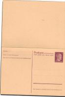 Allemagne Entier Postal Neuf Avec Réponse - Deutschland