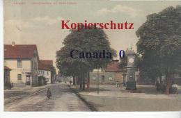 P  8   ---   Langen Uhrtürmchen Mit WEallstraße  2.1.1915  Nach  Büdingen - Langen