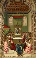 PICCOLOMINI CREATO CARDINALE DA PAPA CALISTO III 1900 CHROMO EDIZIONE SBORGI - Päpste