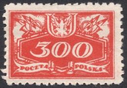 Poland, 300 F. 1920, Sc # O10, Mi # 10, MH - Officials