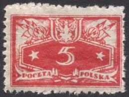 Poland, 5 F. 1920, Sc # O12, Mi # 12, MH - Officials