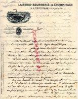 35 - L´ HERMITAGE - TRES BELLE FACTURE LAITERIE BEURRERIE - LAIT BEURRE - 1900 - France