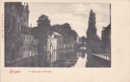 CPA BRUGES BRUGGE LE QUAI DES MARBRIERS - Brugge