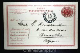 Sweden Postcard Mi Nr P 15 Svaret Betaldt,complete Set,  Cancelled Bruxelles Belgium