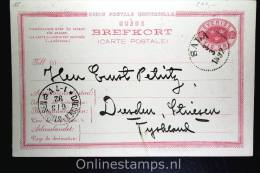 Sweden Postcard Mi Nr P 15 Svaret Betaldt,complete Set,  Cancelled , Sala To Dresden Germany - Postwaardestukken