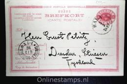 Sweden Postcard Mi Nr P 15 Svaret Betaldt,complete Set,  Cancelled , Sala To Dresden Germany