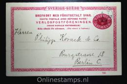 Sweden Postcard Mi Nr P 27 Svaret Betaldt Used Complete Set - Postwaardestukken