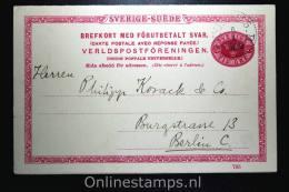 Sweden Postcard Mi Nr P 27 Svaret Betaldt Used Complete Set