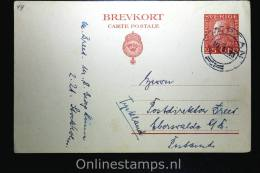 Sweden Postcard Mi Nr P 42  To Germany, 1923, Signed/geprüft - Postwaardestukken